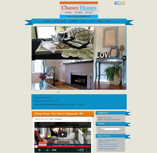 Chaney Homes website link