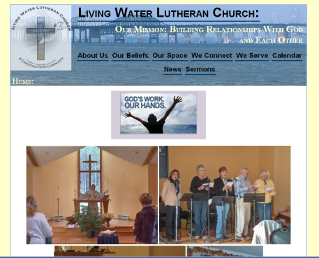 Living Water Lutheran website snapshot