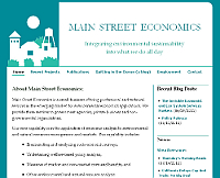Main Street Economics website snapshot