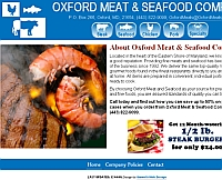 Oxford Meat and Seafood website snapshot