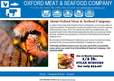 OxfordMeats.com website snapshot