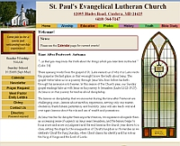 St. Paul's Evangelical Church website snapshot
