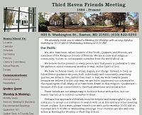 Thid Haven Friends Meeting website snapshot
