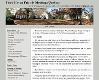 Third Haven Friends Meeting website snapshot